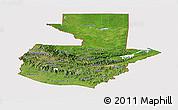Satellite Panoramic Map of Guatemala, cropped outside