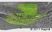Satellite Panoramic Map of Guatemala, desaturated