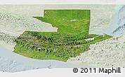 Satellite Panoramic Map of Guatemala, lighten