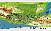 Satellite Panoramic Map of Guatemala, physical outside, satellite sea