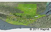 Satellite Panoramic Map of Guatemala, semi-desaturated