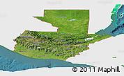 Satellite Panoramic Map of Guatemala, single color outside