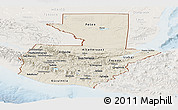 Shaded Relief Panoramic Map of Guatemala, lighten