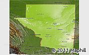 Physical 3D Map of Peten, darken