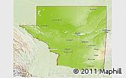 Physical 3D Map of Peten, lighten
