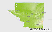 Physical 3D Map of Peten, single color outside