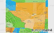 Political Shades 3D Map of Peten