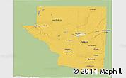 Savanna Style 3D Map of Peten, single color outside