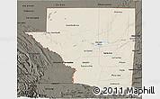 Shaded Relief 3D Map of Peten, darken