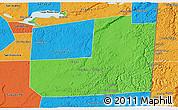 Political 3D Map of Dolores