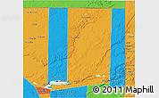 Political 3D Map of Flores