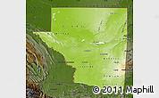 Physical Map of Peten, darken