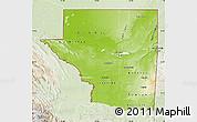 Physical Map of Peten, lighten