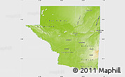 Physical Map of Peten, single color outside