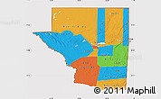 Political Map of Peten, cropped outside