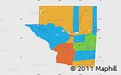 Political Map of Peten, single color outside