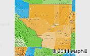 Political Shades Map of Peten