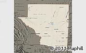 Shaded Relief Map of Peten, darken