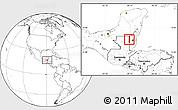 Blank Location Map of Melchor de Menco