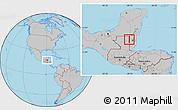 Gray Location Map of Melchor de Menco