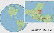 Savanna Style Location Map of Melchor de Menco