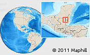 Shaded Relief Location Map of Melchor de Menco