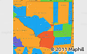 Political Simple Map of Peten