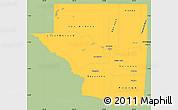 Savanna Style Simple Map of Peten, single color outside