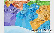 Political Shades 3D Map of Santa Rosa
