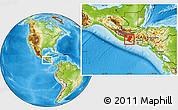 Physical Location Map of Santa Rosa