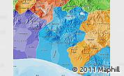 Political Shades Map of Santa Rosa