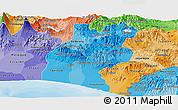 Political Shades Panoramic Map of Santa Rosa
