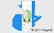 Flag Simple Map of Guatemala, single color outside