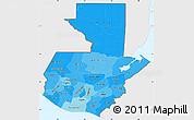 Political Shades Simple Map of Guatemala, single color outside