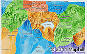 Political Shades 3D Map of Solola