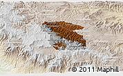 Physical 3D Map of Totonicapan, lighten