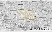 Shaded Relief 3D Map of Totonicapan, desaturated