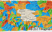 Shaded Relief 3D Map of Totonicapan, political outside