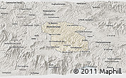 Shaded Relief 3D Map of Totonicapan, semi-desaturated