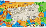 Shaded Relief 3D Map of Zacapa, political outside