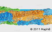 Political Shades Panoramic Map of Zacapa