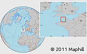 Savanna Style Location Map of Guernsey