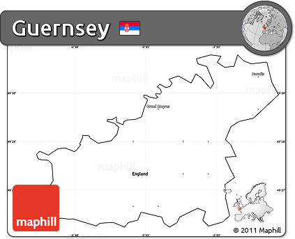 Free Blank Simple Map of Guernsey