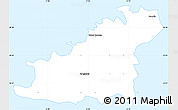 Silver Style Simple Map of Guernsey