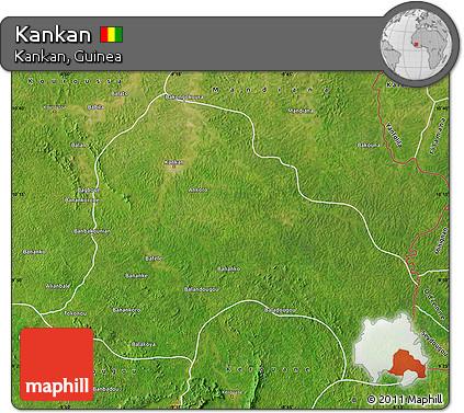Free Satellite Map of Kankan