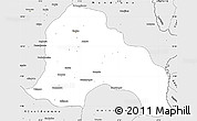 Silver Style Simple Map of Kankan
