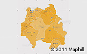 Political Shades Map of Kankan, cropped outside
