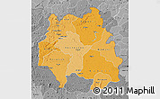 Political Shades Map of Kankan, desaturated