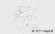 Silver Style Map of Kankan, single color outside