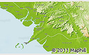 Physical 3D Map of Coyah